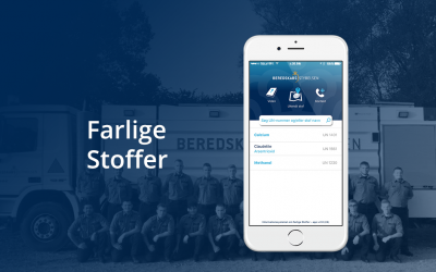 The app, Farlige Stoffer, helps with the chemistry!